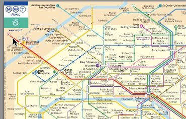 a Paris Metro map with ...